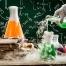 واکنش کربنات کلسیم با اسید سولفوریک, کلسیم کربنات با هیدروکلریک اسید, کربنات کلسیم با اسید استیک,