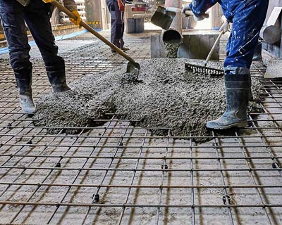 خاک سنگ در بتن